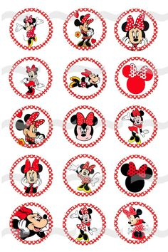 Minnie Mouse 3 1 Digital Bottle Cap Images by BottleCapsForCharity,