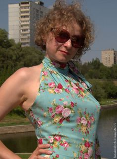 """Купить платье-сарафан летний с широкой юбкой """"Рококо"""" - цветочный, сарфан летний"""