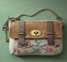 cross stitch handbag