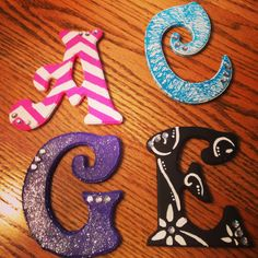DIY decorated letters