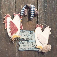 free primitive rooster wood patterns | All Primitive wood crafts are handcrafted originals!