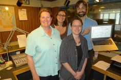 Robert Douglass and the WPR team following a successful broadcast and score following experiment.