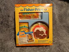 Vtg Fisher Price Fun with Play Food Homemade Pizza Set Pepperoni Box EC 2136 | eBay