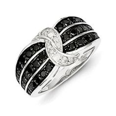 Sterling Silver 7/8 Carat Black White Diamond Ribbon Style Ring Christmas 2014 Holiday Jewelry Deals and Sales At Gemologica.com. Xmas Gift guide, Gift Ideas For Him, Gift Ideas For Her, Gift Ideas For Kids. Give the Gift of Fine Jewelry From the Gemologica.com Online Jewelry Store. Unique Gifts, Personalized Gifts, Gift Finder For Men, Women, Children @ GEMOLOGICA.COM