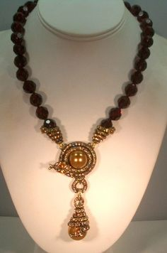 "Heidi Daus ""Captivating Coil"" Beaded Drop Necklace | eBay"