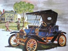 Mouse over image to zoom   Brush Runabout 1910 Automobile Print on Foil vintage car