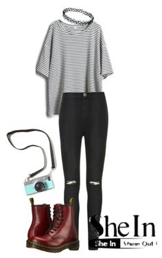 """Grunge"" by tincicavk ❤ liked on Polyvore featuring Ally Fashion and Dr. Martens"
