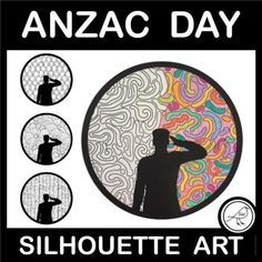 Art activity for Anzac Day, Armistice Day, Veterans Day, Memorial Day or Remembrance Day. Silhouette of person saluting. Colour the pattern, cut around the circle and display.11 DIFFERENT TEMPLATES:10 templates with a patterned background.1 blank template for you to draw your own patterned backgro... School Resources, Classroom Resources, Poppy Template, Armistice Day, Anzac Day, Silhouette Images, Remembrance Day, Writing Poetry, Draw Your
