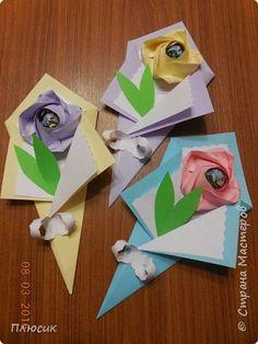 Acestea sunt ciorchinii le-am făcut împreună cu fiul ei pentru felicitări colegilor săi.  fotografie 1