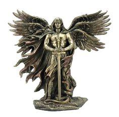 XL Engel ERZENGEL METATRON Bronze handbemalt 27cm in Sammeln & Seltenes, Esoterik, Mystik & Magie, Engel & Lichtwesen | eBay