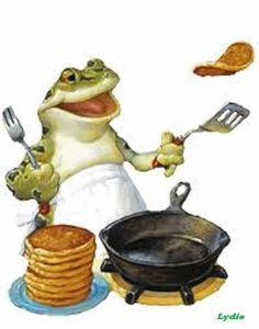Mr toad is tossing pancakes . Funny Frogs, Cute Frogs, Animals And Pets, Funny Animals, Frog Pictures, Frog Pics, Frog Illustration, Frog Art, Cartoon Gifs