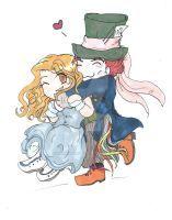AlicexHatter cuteness by KHwhitelion