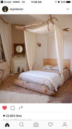 Décoration chambre à coucher bois flotté table basse en bois flotté ...