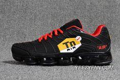 5ef7836cc678b0 TN+2018 Nike Air VaporMax 40-45 Black Red Men Running Sneaker Latest