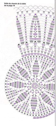 Crochet Doily Diagram, Crochet Doily Patterns, Crochet Mandala, Crochet Chart, Thread Crochet, Filet Crochet, Crochet Motif, Crochet Doilies, Crochet Flowers