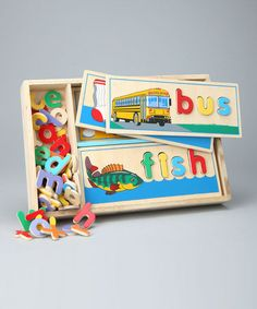 Love this See & Spell Puzzle Set on #zulily! #zulilyfinds