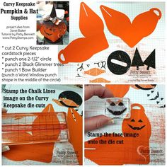 Stampin' Up! Supplies for the Curvy Keepsake pumpkin treat box - perfect for Halloween