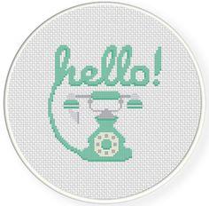 FREE Hello! Cross Stitch Pattern