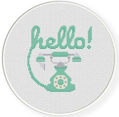FREE Hello! Cross Stitch Pattern