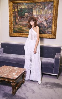 nevenka is a sustainable luxury eastern european fashion house specialising in ready to wear and custom made garments. One Shoulder Tops, Shoulder Sleeve, White Crochet Top, European Fashion, Pink Lace, Fashion Shoot, Wide Leg Pants, Roots, Ready To Wear