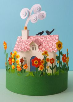 Artist Helen Musselwhite specializes in paper sculpture and collage. Her work is comprised of layered, intricately illustrated, folded and . 3d Paper, Origami Paper, Paper Toys, Kirigami, Cardboard Crafts, Paper Crafts, Paper Cutting, Ben E Holly, Diy And Crafts