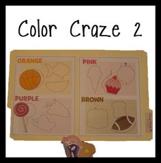 Very nice file folder game for colors.  Has two parts to it.