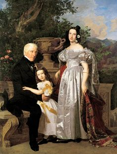 Ferdinand Georg Waldmüller Familie Kerzmann Oil on canvas 1835