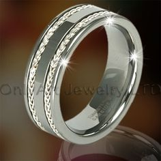 Inlaid Tungsten Ring For Men OAGR0093  Model Number OAGR0093 Jewelry Type Rings   Place of Origin Guangdong, China (Mainland)   Brand Name OA   Rings Type Engagement Bands or Rings   Jewelry Main Material Tungsten   Main Stone Zircon   Setting Type Tension setting   Occasion Anniversary, Gift, Party, Other   Gender Men's, Unisex, Women's   metal tungsten gold,tungsten carbide   feature comfort fit