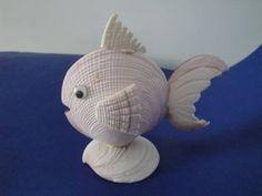 Sea Shell Fish Shell Figurine Philippines – Art Fun Studio - Touching and Emotional Image Seashell Ornaments, Seashell Art, Seashell Crafts, Snowman Ornaments, Sea Crafts, Nature Crafts, Diy Arts And Crafts, Shell Animals, Seashell Projects