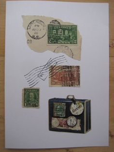 Pure vintage. I created this card using very old stamps and postmark.