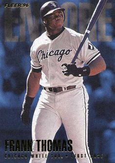RARE 1996 FLEER ENCORE FRANK THOMAS CHICAGO WHITE SOX MINT #ChicagoWhiteSox