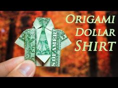 ▶ Origami :: Dollar Shirt (Tutorial) - YouTube