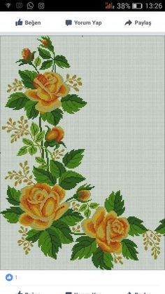 This Pin was discovered by ahm Cross Stitch Tree, Just Cross Stitch, Cross Stitch Borders, Cross Stitch Flowers, Cross Stitch Charts, Cross Stitch Designs, Cross Stitching, Cross Stitch Embroidery, Cross Stitch Patterns