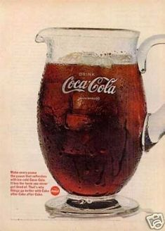 *COCA-COLA ~ pitcher (1966) More Coca-Cola @ http://groups.google.com/group/Inge-Coca-Cola & http://groups.yahoo.com/group/IngesCocaCola http://www.facebook.com/groups/ArtandStuff