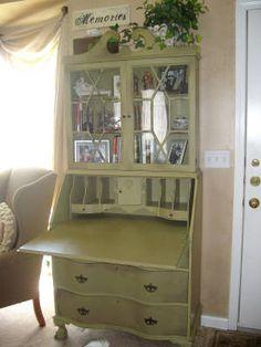 green antique secretary makeover antique secretary deskschina