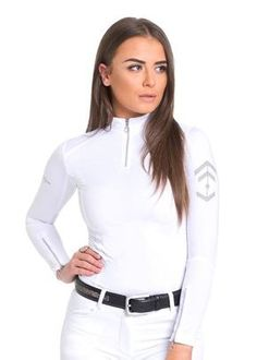 d6da6a9810 White SS17 Technical Stretch Base Layer – Aztec Diamond Equestrian (UK)  Limited
