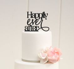 CUSTOM HAPPILY EVER AFTER WEDDING CAKE TOPPER    PLEASE NOTE: We love to allow 3-4 weeks for the production of our custom items but if you need