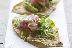 Tortilla crisps with edamame puree and sashimi – Recipes – Bite - Formerly Foodhub.co.nz