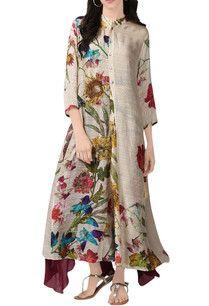 Shop Manish Malhotra - Royal blue floral print kurta Latest Collection Available at Aza Fashions Pakistani Fashion Casual, Indian Fashion, Women's Fashion, Casual Dresses, Fashion Dresses, Casual Outfits, Pakistani Bridal Wear, Desi Clothes, Indian Designer Wear