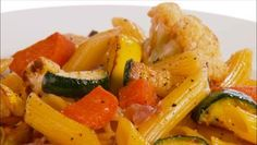 Giada De Laurentiis - Penne with Roasted Vegetables and Prosciutto