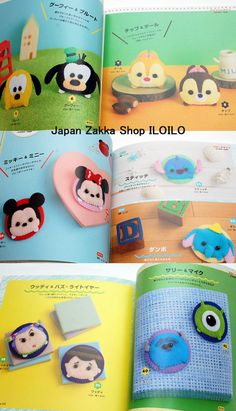 This is a Japanese felt Handmade Book.  Made in Japan.  The popular Disney Tsum Tsum characters appeared in the felt of the mascot! Cute work full of such as Mickey & Friends. Introduce two types of mascot type and badge type.  Condition:new Name:Disney Tsum Tsum felt mascotJapanese felt Handmade Book Language:Japanese Release date:2016/4/28 Size: 21 x 21 x 1 cm pages:64page  This item is shipping from japan.  [4834742024]