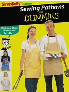 4 EASY APRON Pattern - Sewing for Dummies Aprons - last one - SOLD!