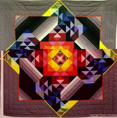 mandala quilt, wow, wow, double wow.