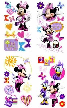 Disneys Minnie Mouse Stickers Bow Tique Peel & Stick Wall Decals by Roommates 9.97