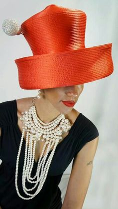 Harriet Rosebud Hats #judithm The deepest brim and tallest of crowns. Quite a statement.