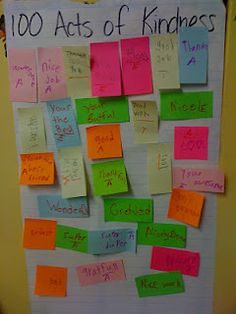 100th Day of School Ideas  100 Acts of Kindess - great idea for next year
