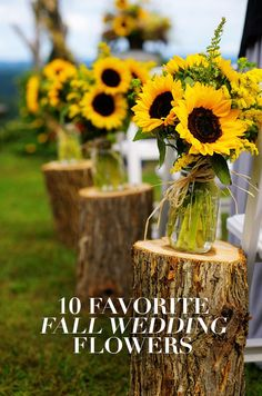 Rich reds, buttery yellows, and deep oranges have us falling for autumn florals.  Capture the warmth and beauty of the season with our 10 favorite flowers for a fall wedding: