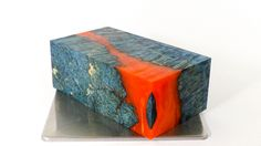 Team Colors: Blue Dyed Box Elder and Orange. Would you like a custom team color made for you?
