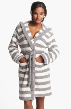 Barefoot Dreams® CozyChic® Stripe Hooded Robe available at #Nordstrom