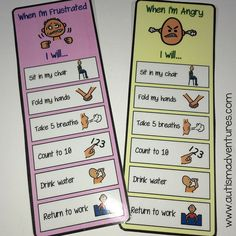Clear, concise behavior steps to calming down.  Help an escalating child calm down with these visual steps.  Behavior support for a special needs (autism) classroom.  Utilize the whole calm down kit to help students de-escalate in the classroom, regulate emotions and calm down.